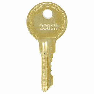 CompX Chicago 2001X - 2250X - 2101X Replacement Key