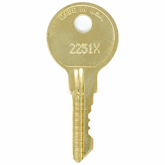 CompX Chicago 2251X - 2500X - 2488X Replacement Key