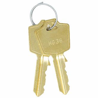 1 Hon File Cabinet Lock Keys Codes GG101 to GG200 Office Furniture Desk Lock Key
