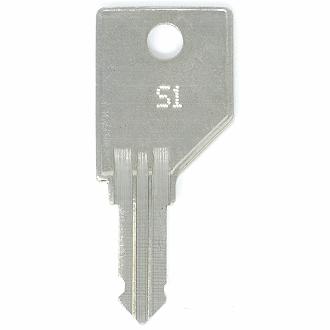 File Cabinet Keys Codes D7C1 to D7C55 Lock Key 2 Shaw Walker Office Furniture
